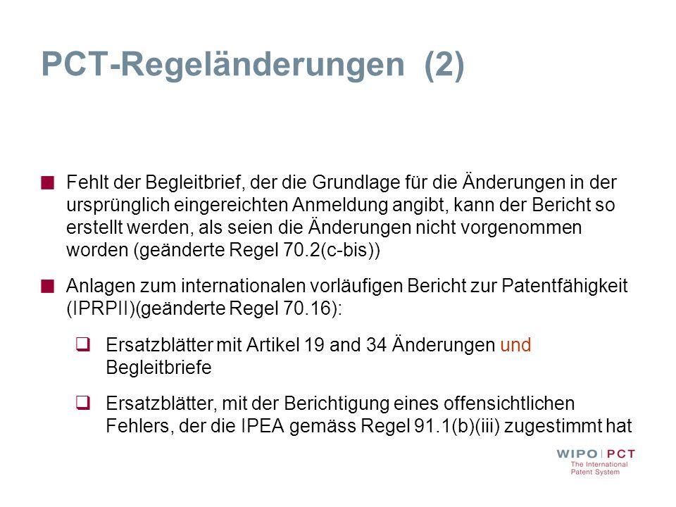 PCT-Regeländerungen (2)