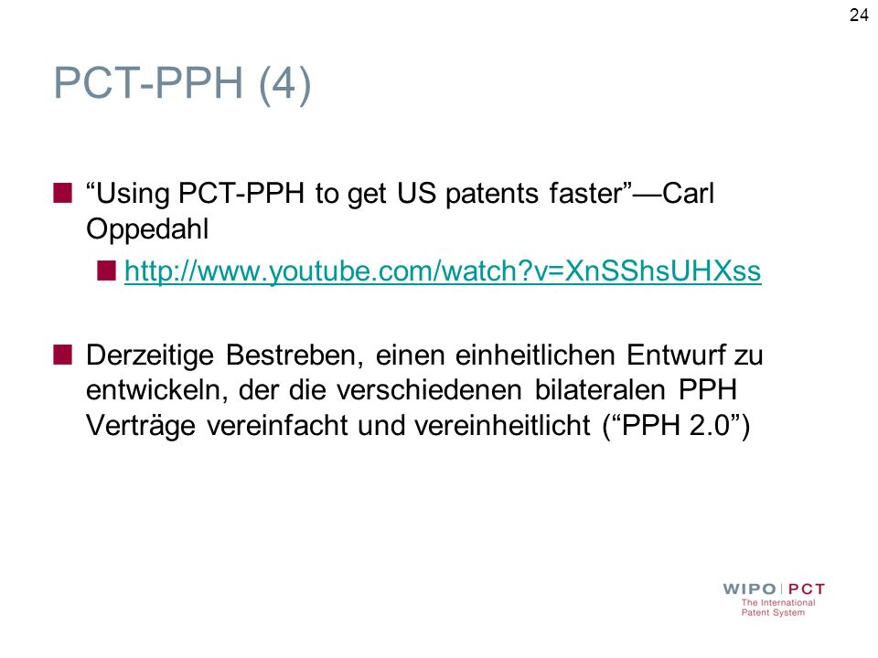 PCT-PPH (4) Using PCT-PPH to get US patents faster —Carl Oppedahl