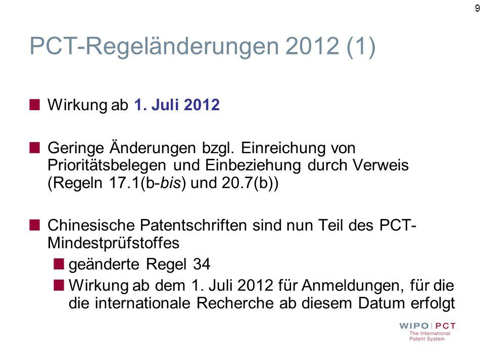 PCT-Regeländerungen 2012 (1)
