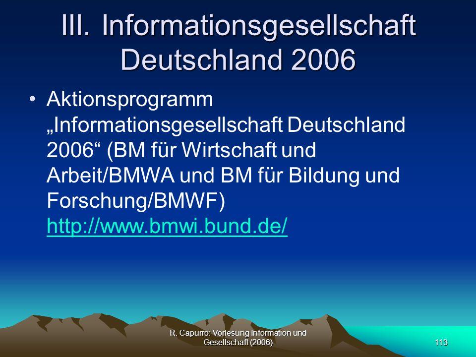 III. Informationsgesellschaft Deutschland 2006