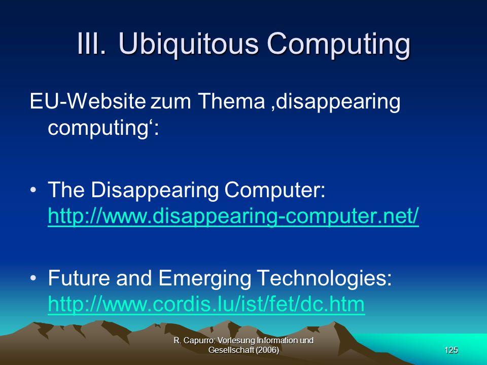 III. Ubiquitous Computing