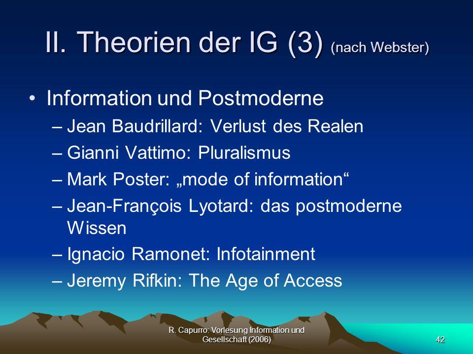 II. Theorien der IG (3) (nach Webster)
