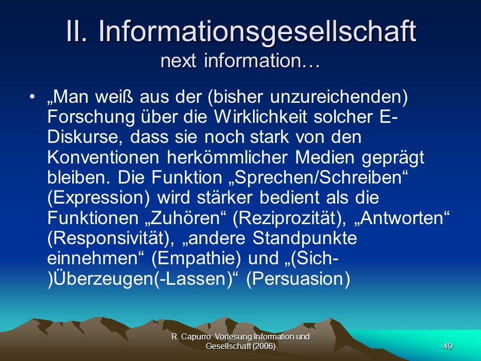 II. Informationsgesellschaft next information…