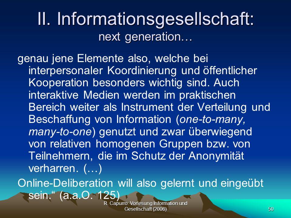 II. Informationsgesellschaft: next generation…