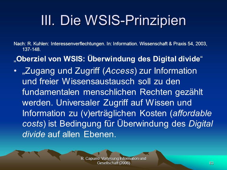 III. Die WSIS-Prinzipien