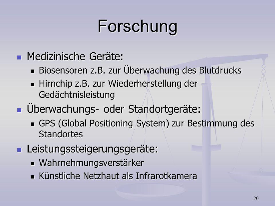 Forschung Medizinische Geräte: Überwachungs- oder Standortgeräte: