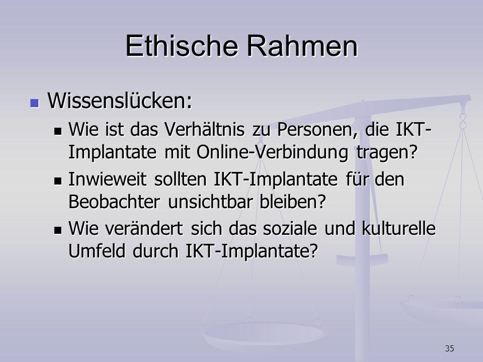 Ethische Rahmen Wissenslücken: