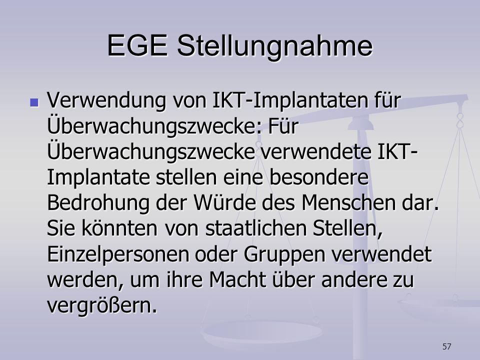 EGE Stellungnahme