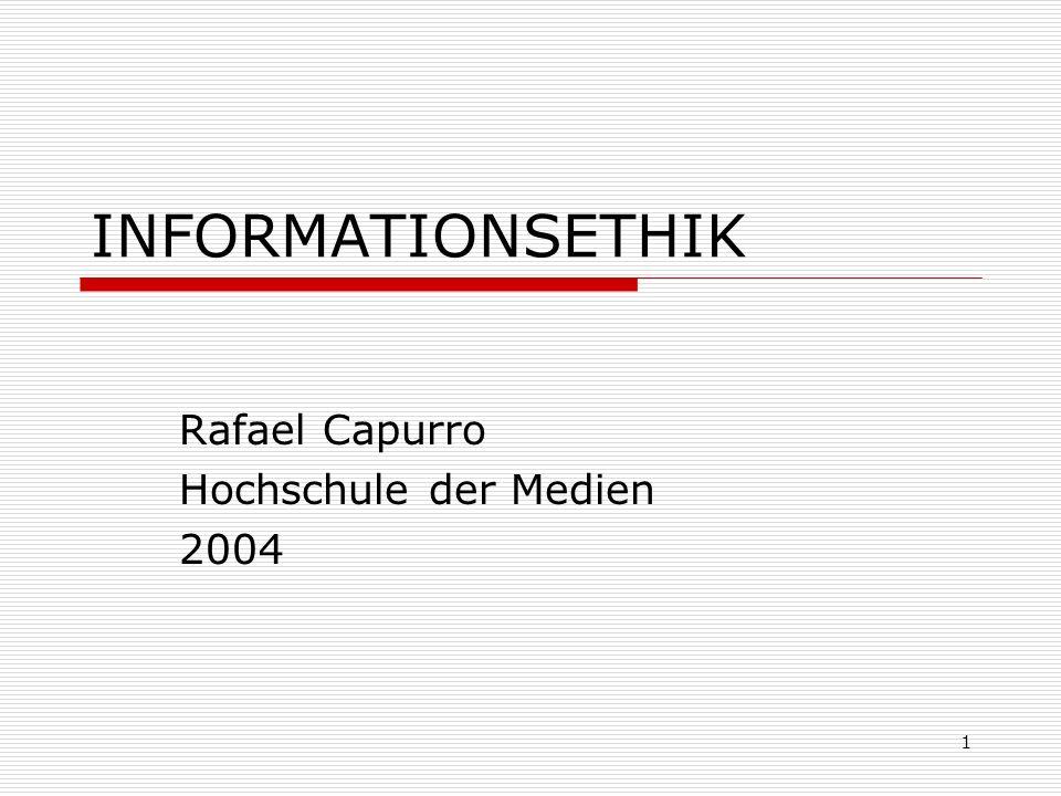 Rafael Capurro Hochschule der Medien 2004