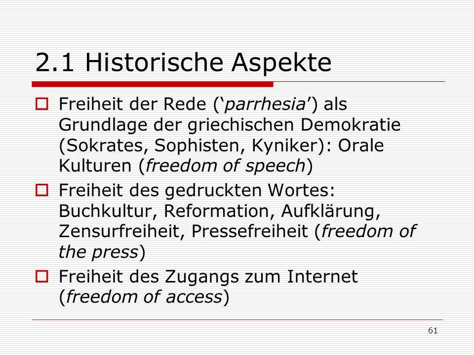 2.1 Historische Aspekte