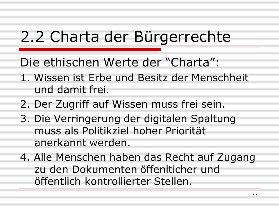 2.2 Charta der Bürgerrechte