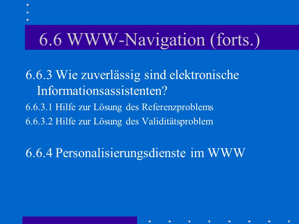 6.6 WWW-Navigation (forts.)
