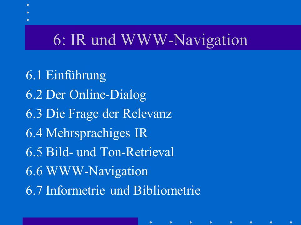 6: IR und WWW-Navigation