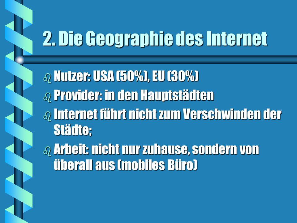 2. Die Geographie des Internet