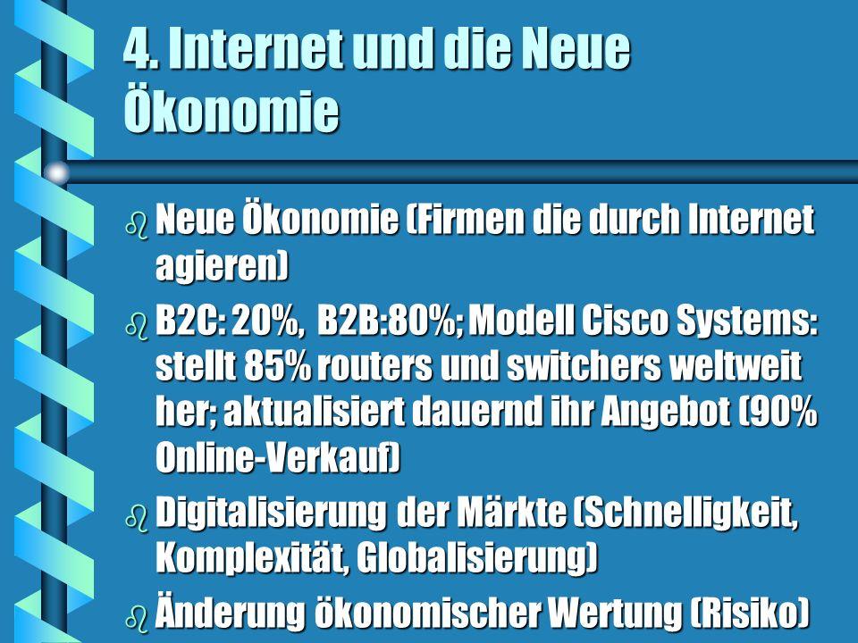 4. Internet und die Neue Ökonomie