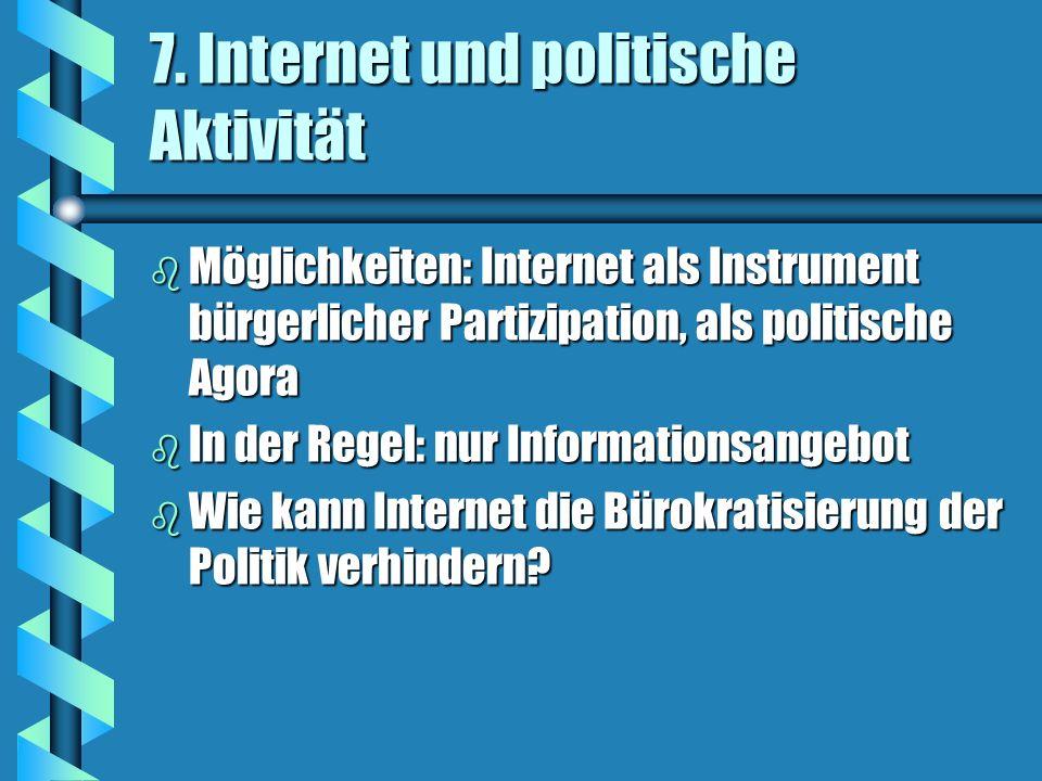 7. Internet und politische Aktivität