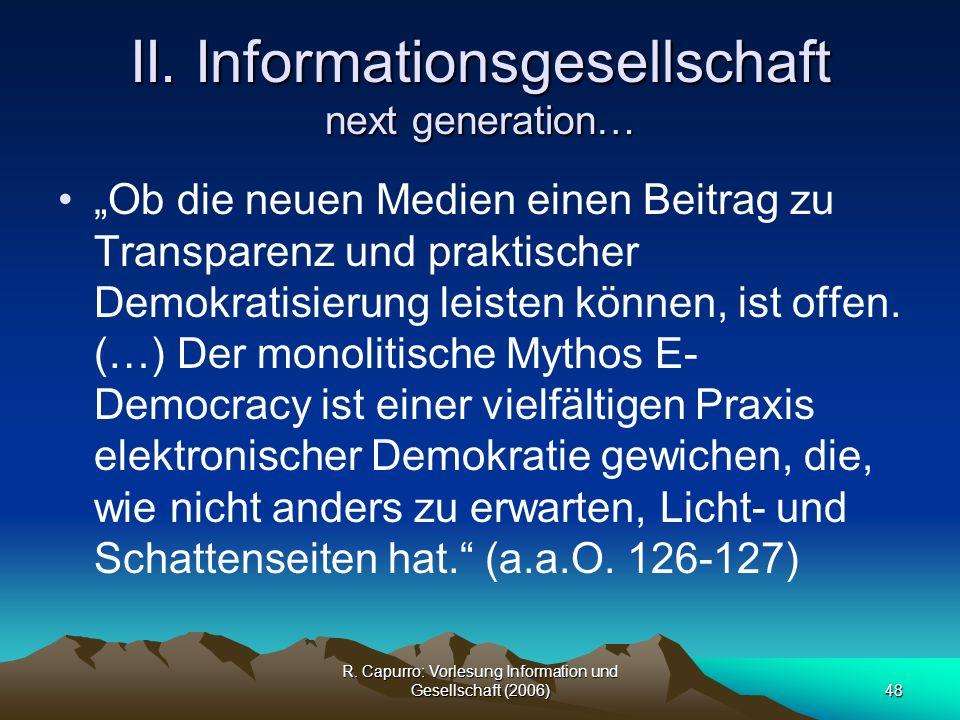 II. Informationsgesellschaft next generation…