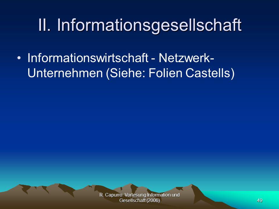 II. Informationsgesellschaft