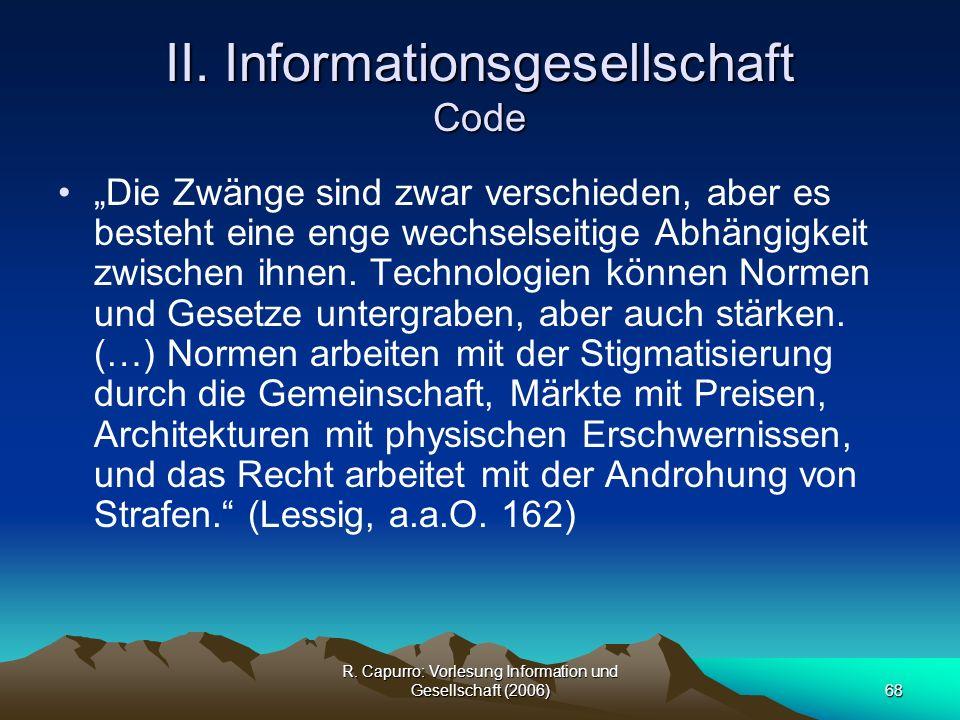 II. Informationsgesellschaft Code