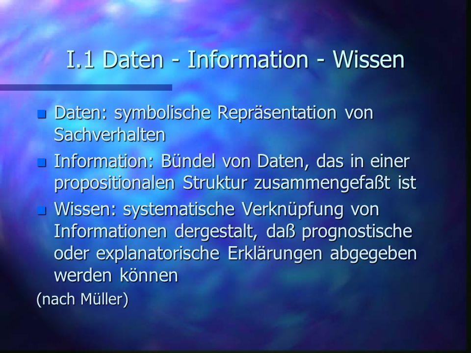 I.1 Daten - Information - Wissen
