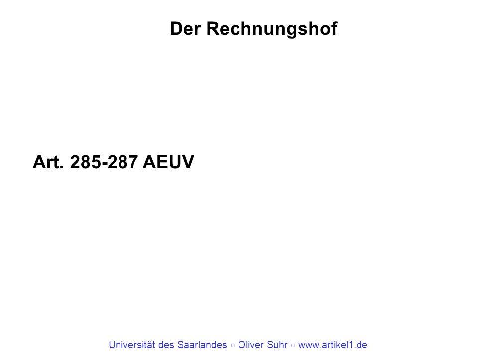 Der Rechnungshof Art. 285-287 AEUV