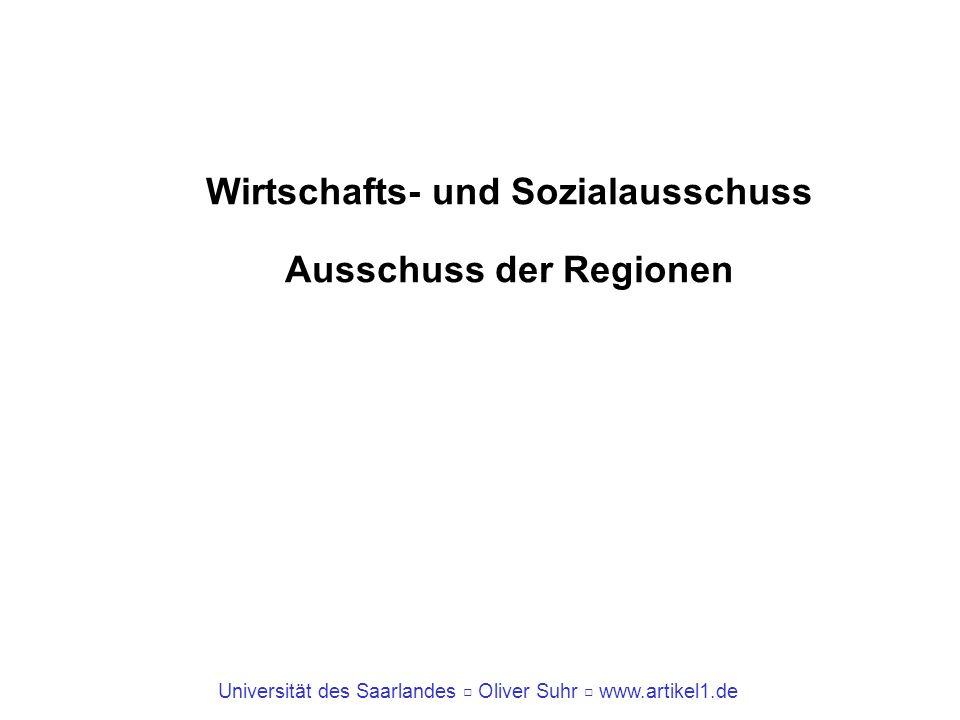 Wirtschafts- und Sozialausschuss Ausschuss der Regionen