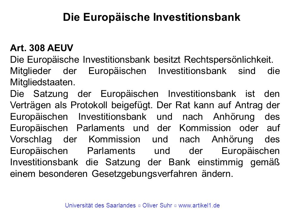 Die Europäische Investitionsbank