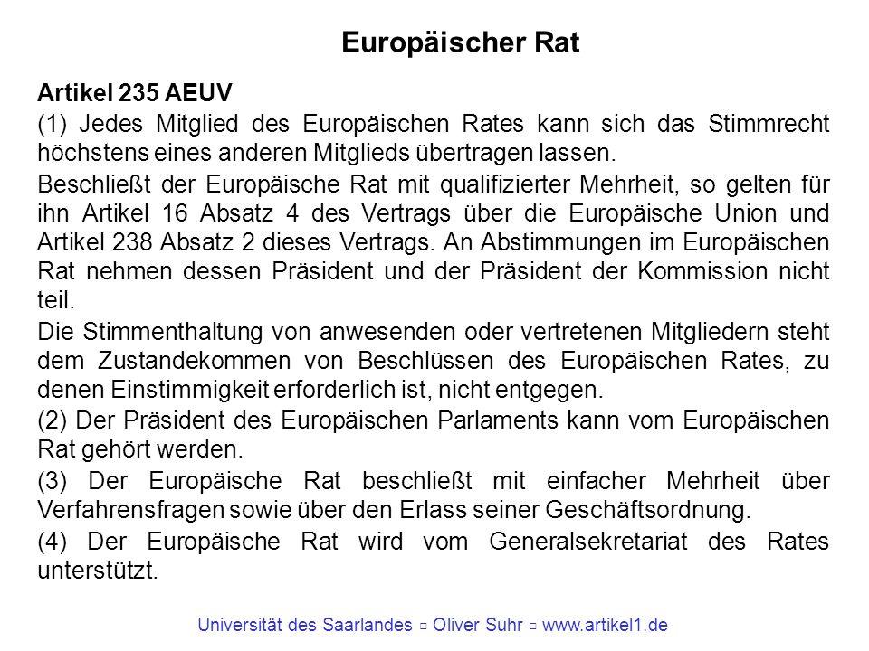 Europäischer Rat Artikel 235 AEUV