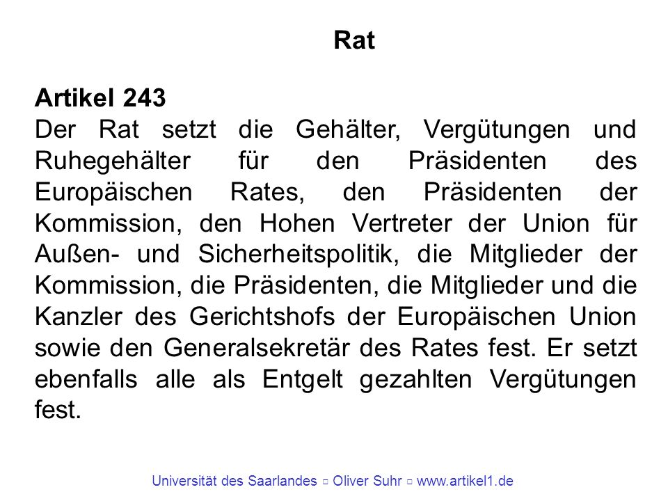 Rat Artikel 243.