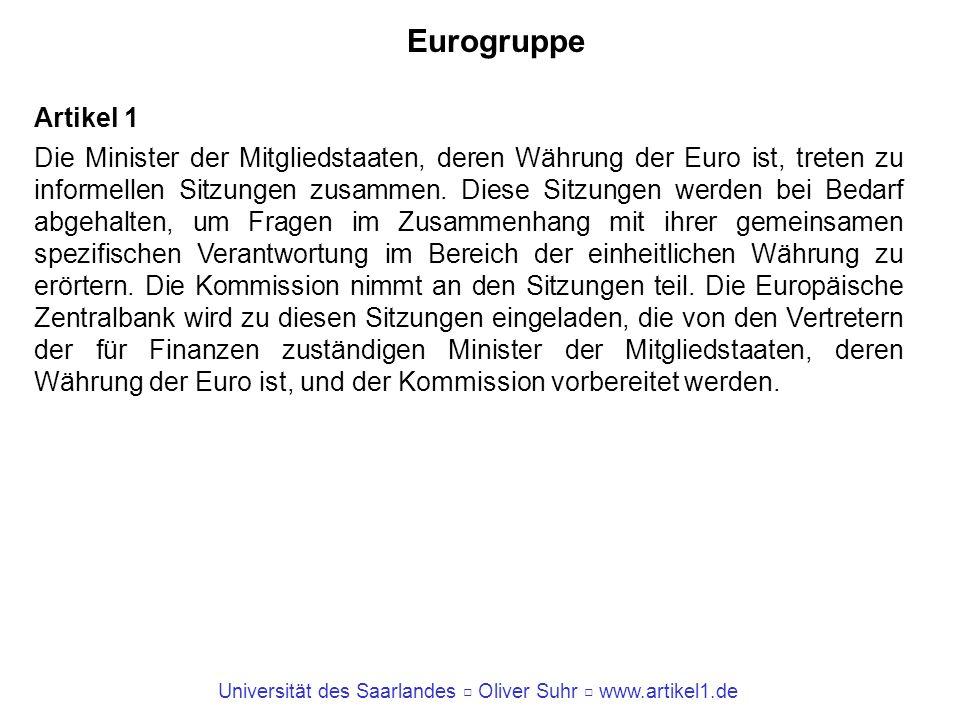 Eurogruppe Artikel 1.