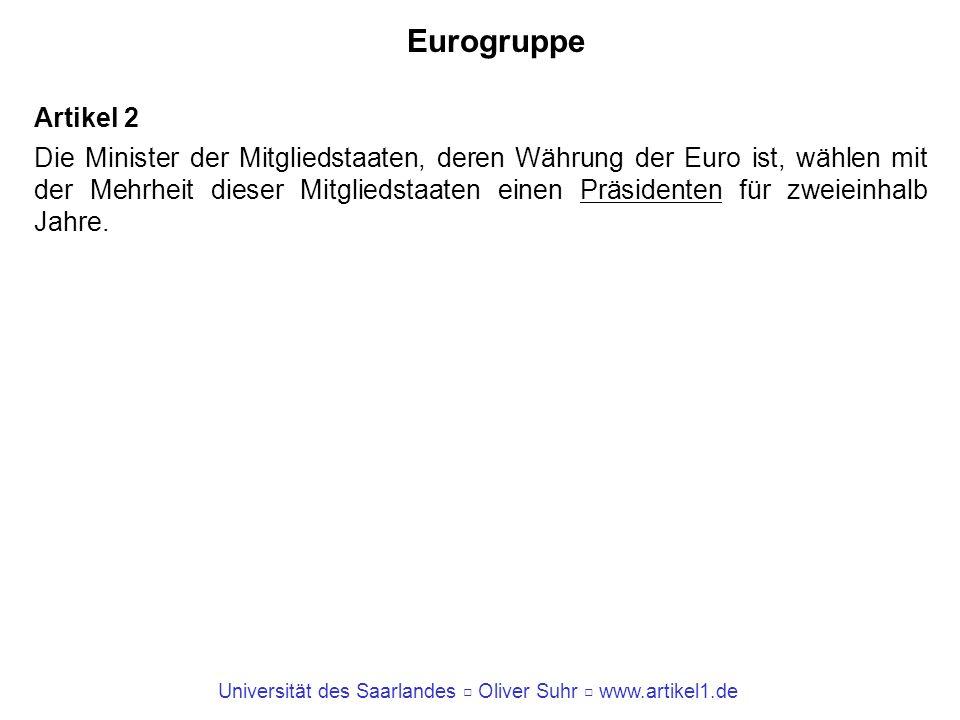 Eurogruppe Artikel 2.