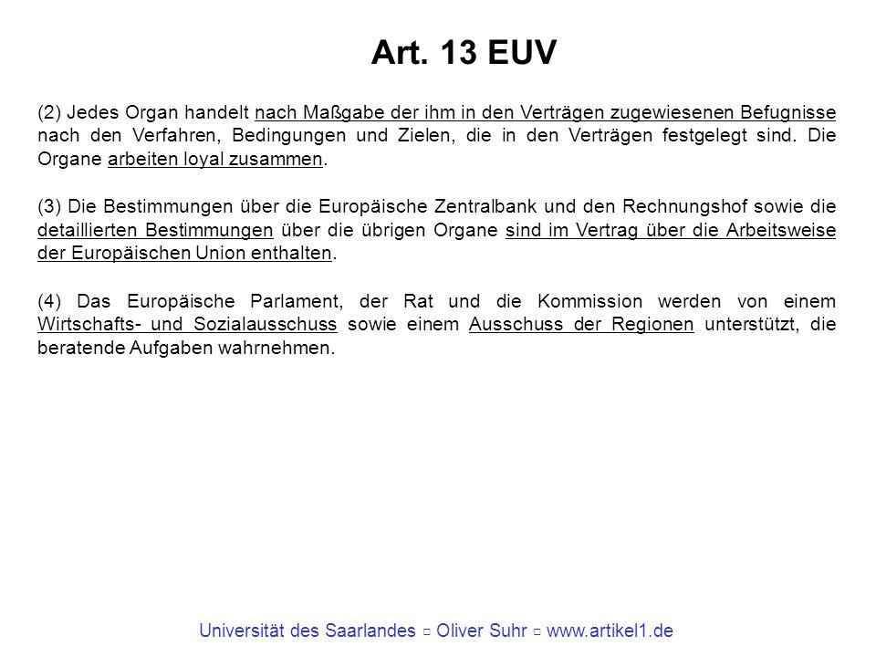 Art. 13 EUV