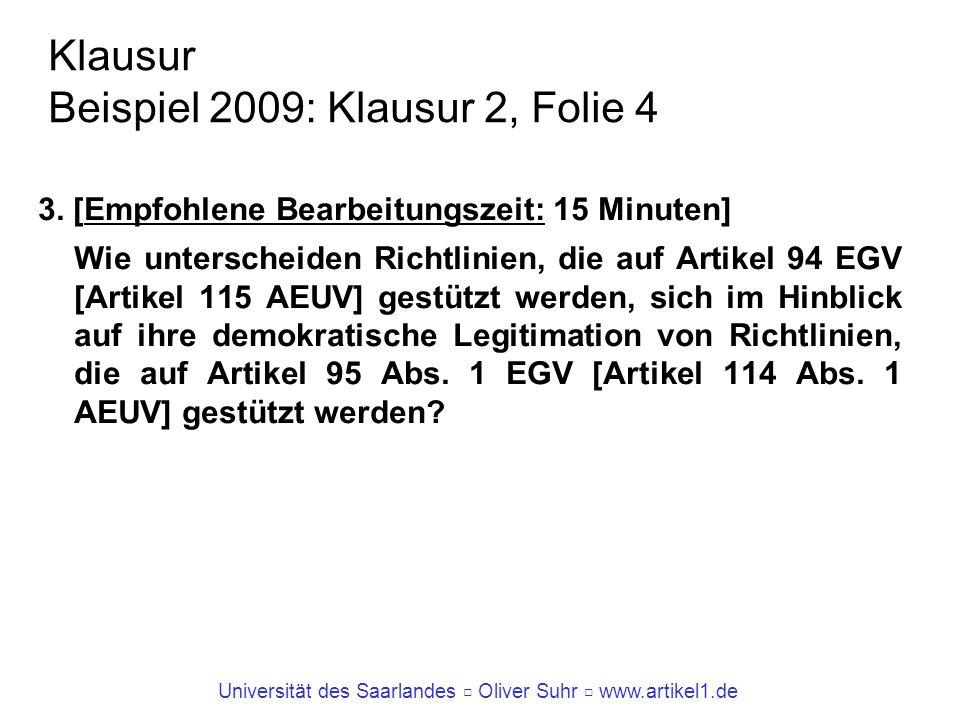 Klausur Beispiel 2009: Klausur 2, Folie 4