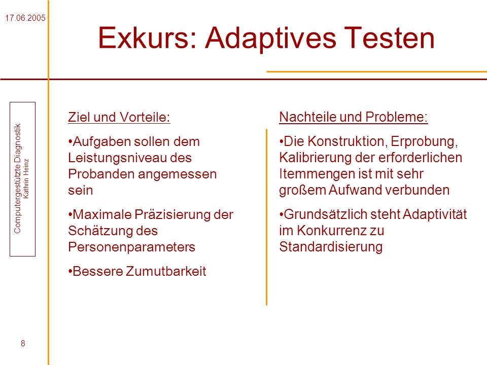 Exkurs: Adaptives Testen
