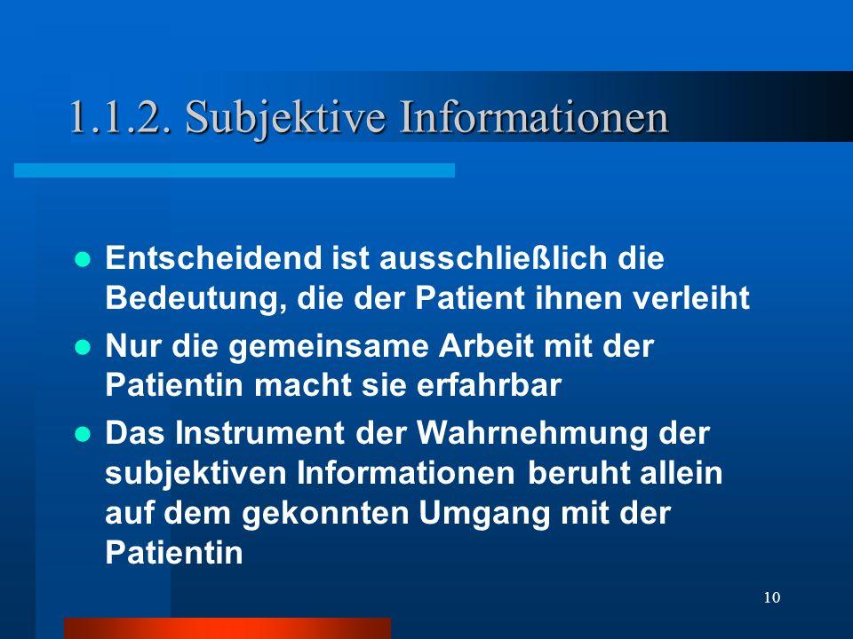 1.1.2. Subjektive Informationen