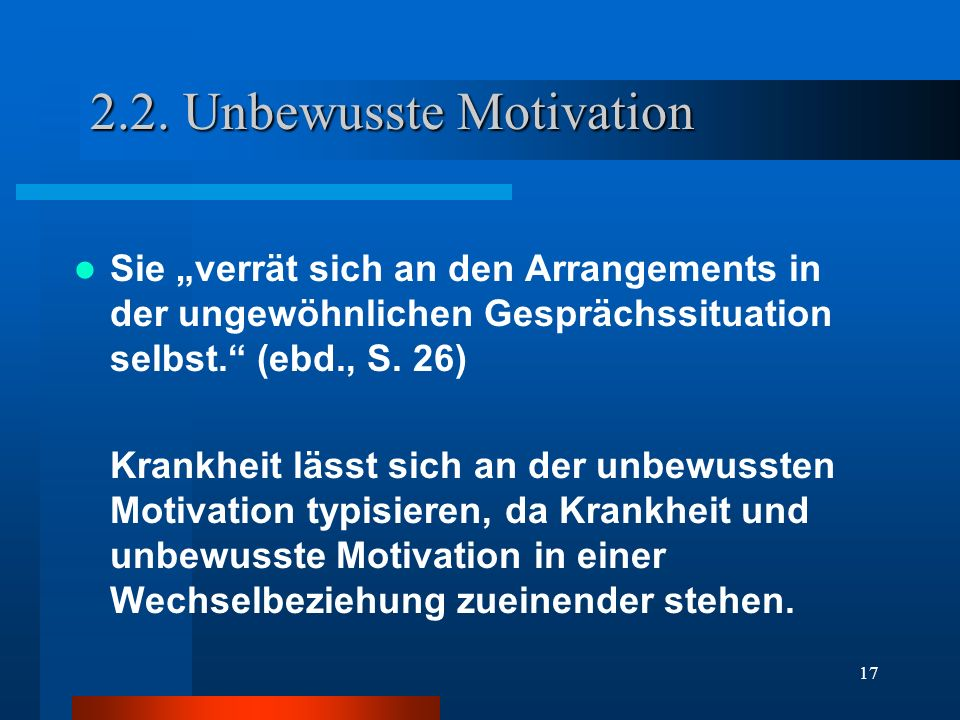 2.2. Unbewusste Motivation