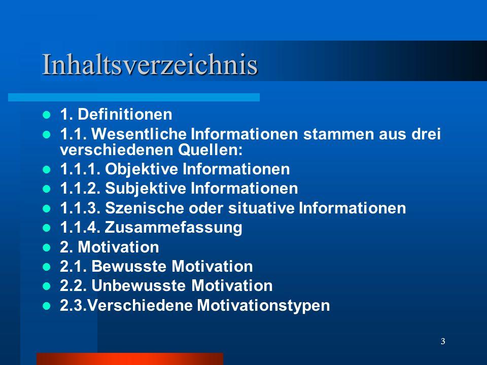Inhaltsverzeichnis 1. Definitionen
