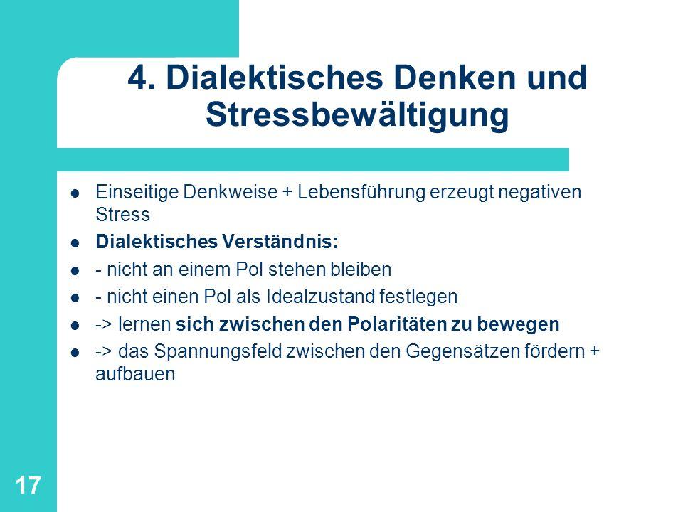 4. Dialektisches Denken und Stressbewältigung