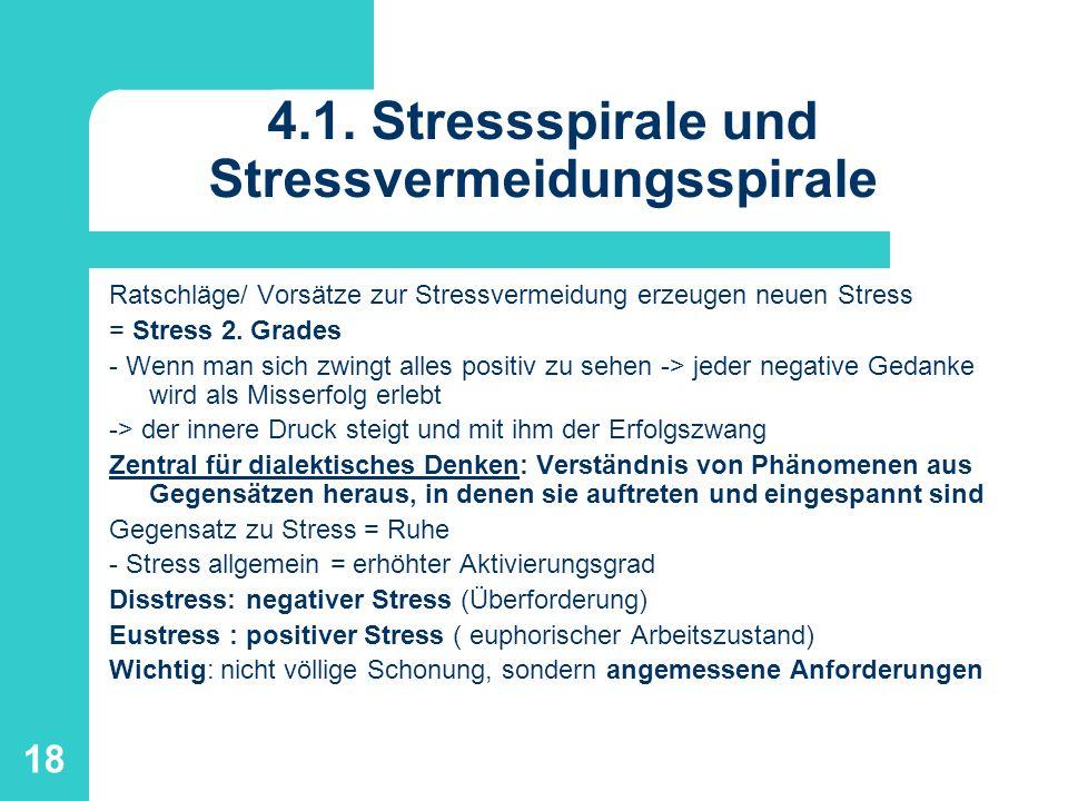 4.1. Stressspirale und Stressvermeidungsspirale