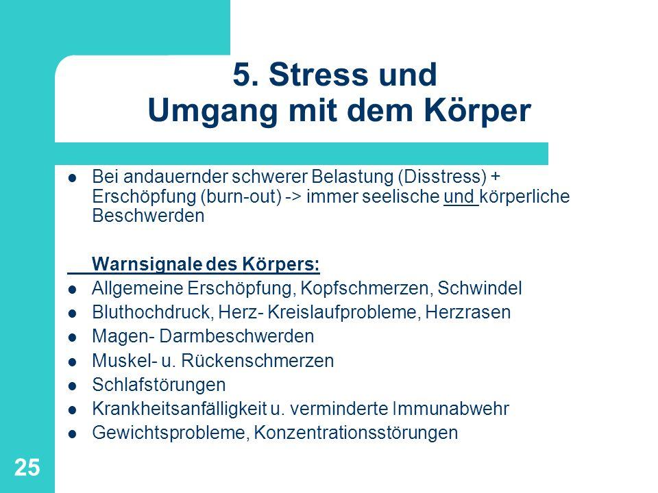 5. Stress und Umgang mit dem Körper