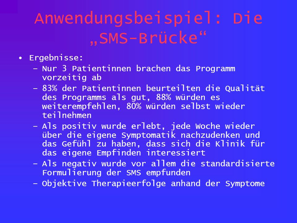 """Anwendungsbeispiel: Die """"SMS-Brücke"""