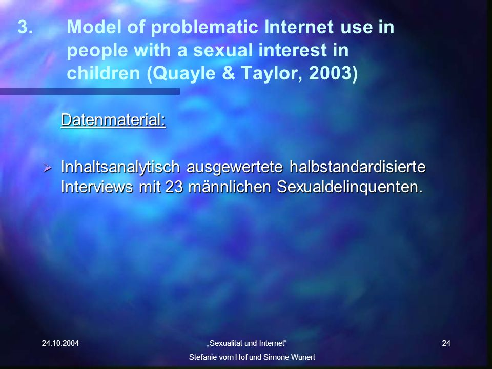 3. Model of problematic Internet use in