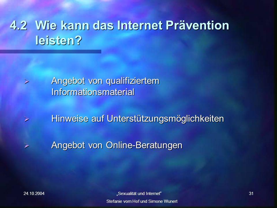 4.2 Wie kann das Internet Prävention leisten