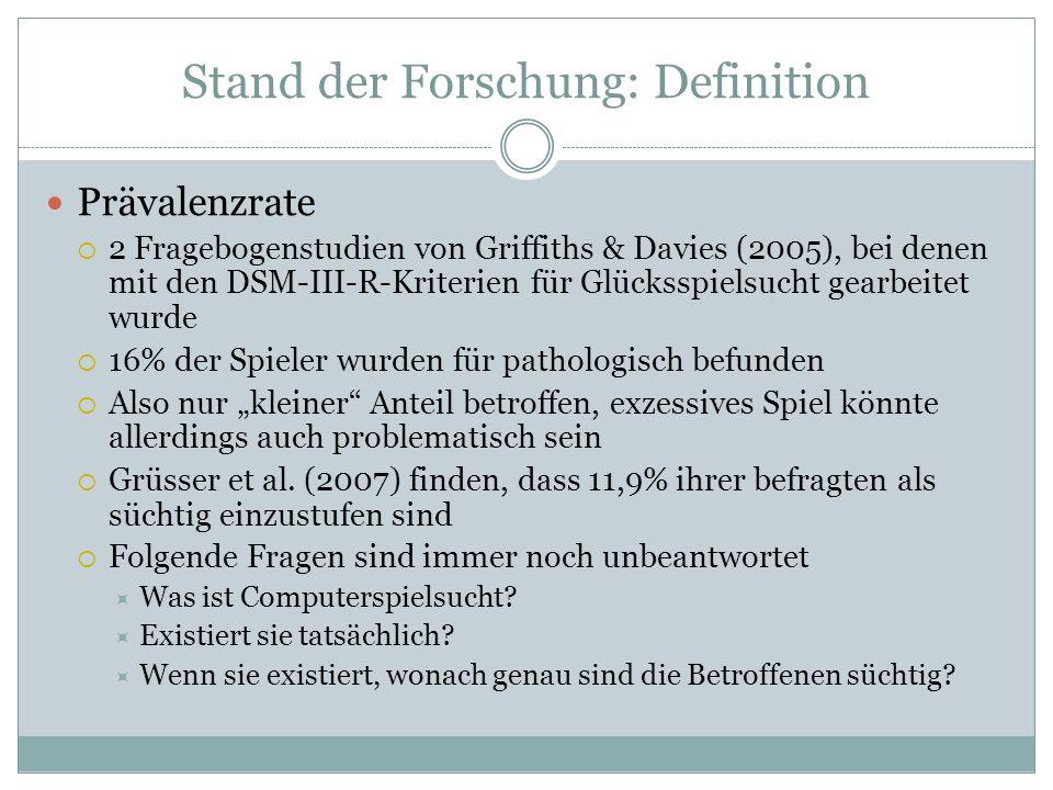 Stand der Forschung: Definition