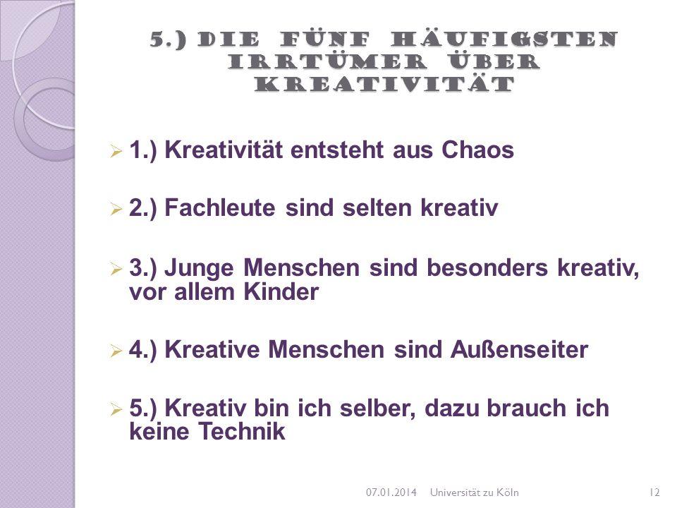 5.) Die fünf häufigsten Irrtümer über Kreativität