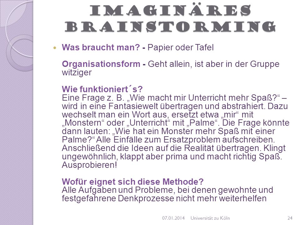 Imaginäres Brainstorming
