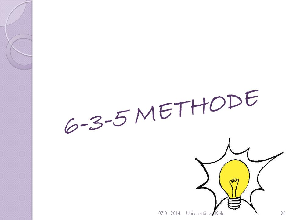 6-3-5 METHODE 27.03.2017 Universität zu Köln