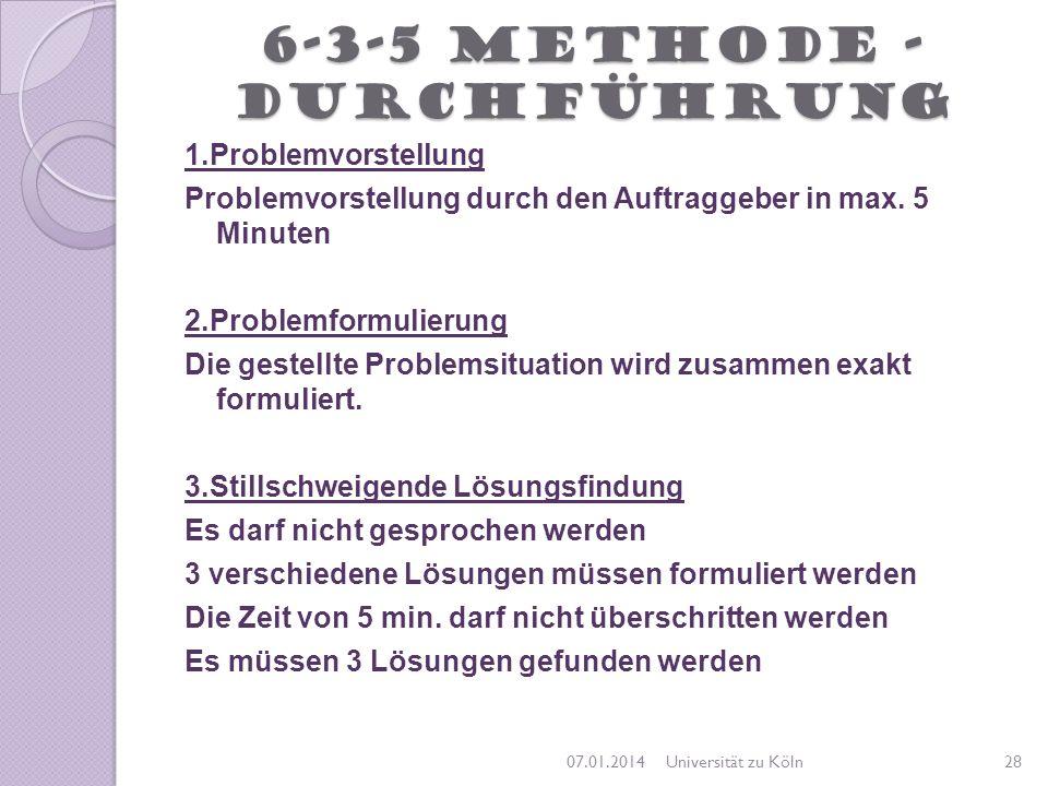 6-3-5 Methode -Durchführung