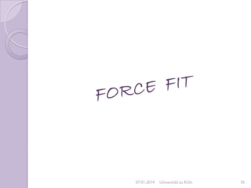 FORCE FIT 27.03.2017 Universität zu Köln