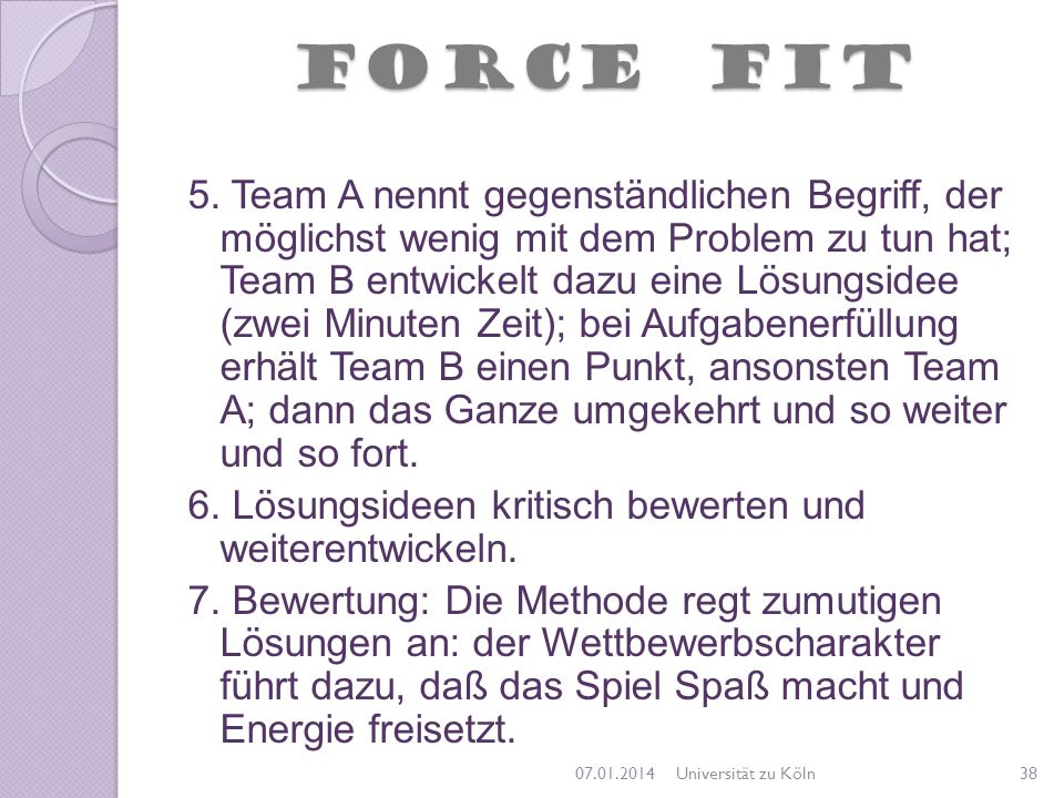 FORCE FIT
